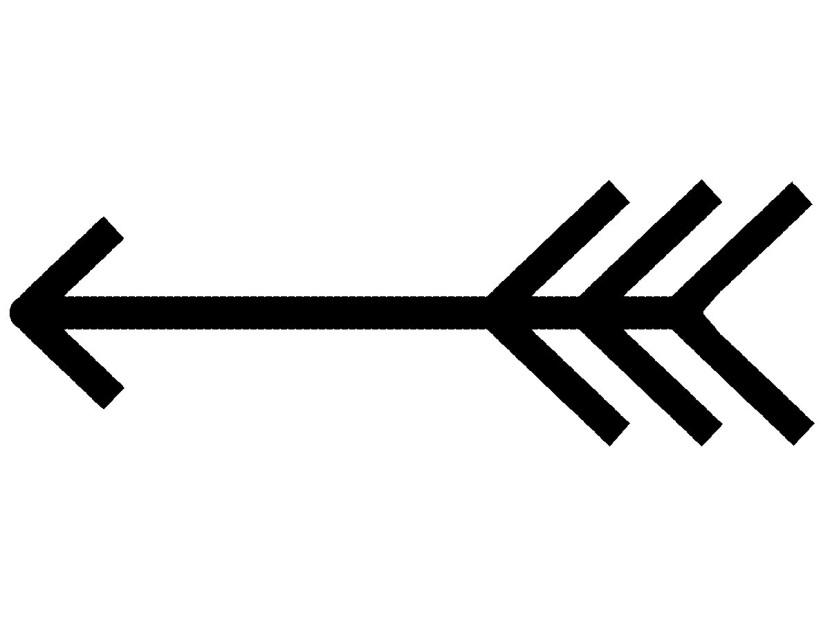 830x623 Aztec Clipart Arrow