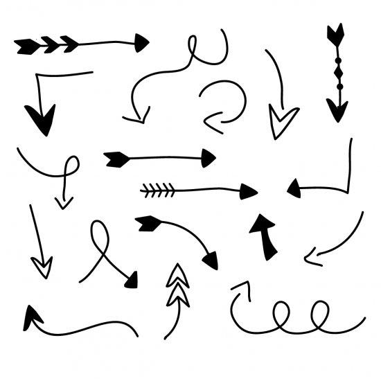 550x550 Free Hand Drawn Arrow Clip Art