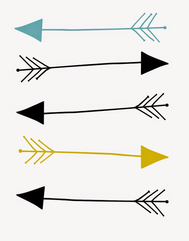 792x1008 Single Tribal Arrow Clipart