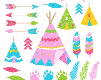 340x270 Tribal Cute Clipart Teepee Graphics Tribal Clip Art Brown