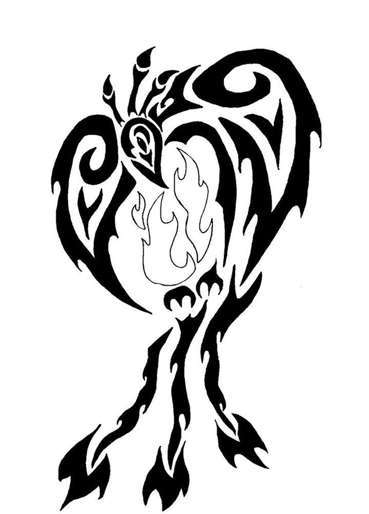 720x1001 38 Best Fire Phoenix Tribal Tattoo Images Tribal