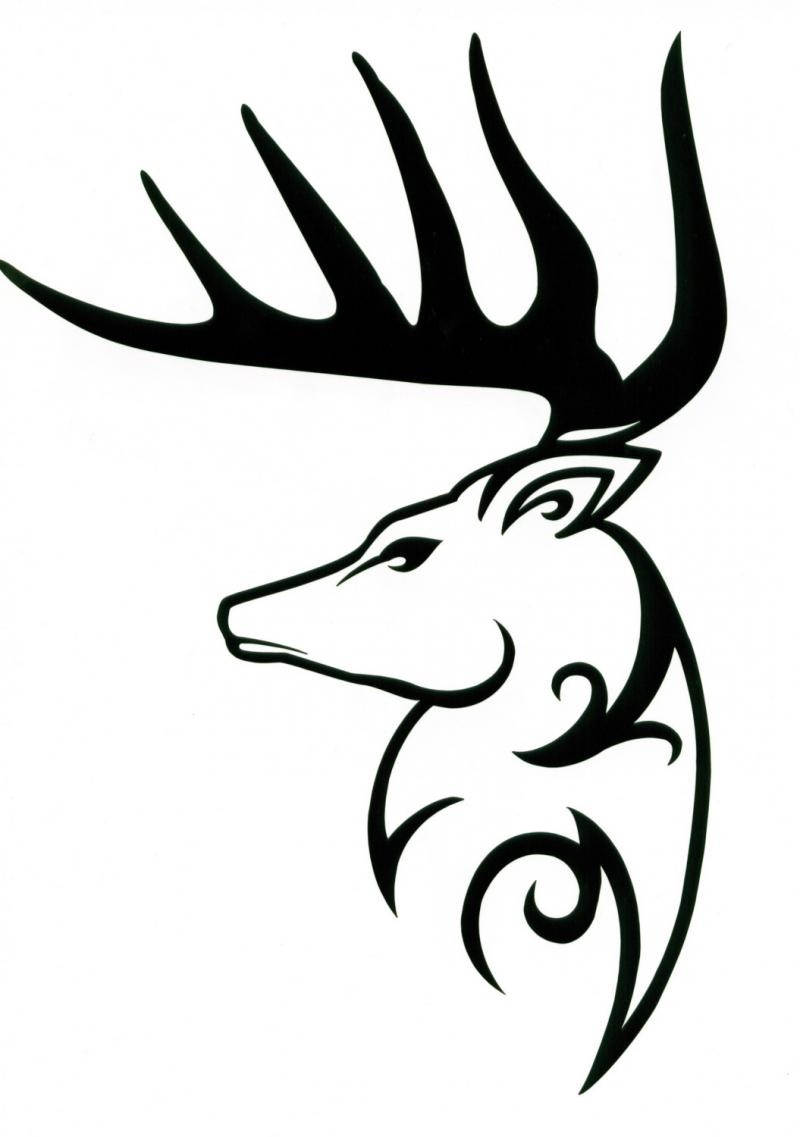 800x1137 Buck Clipart Tribal