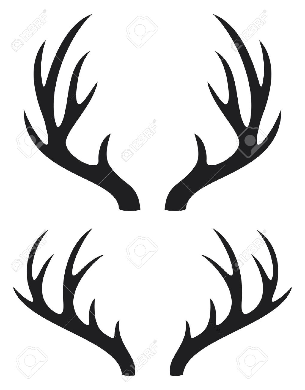 1019x1300 Deer Antler Clip Art Many Interesting Cliparts