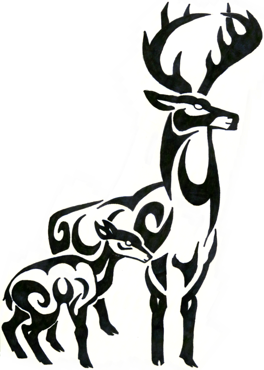 1024x1434 Tribal Deer Skull Clipart