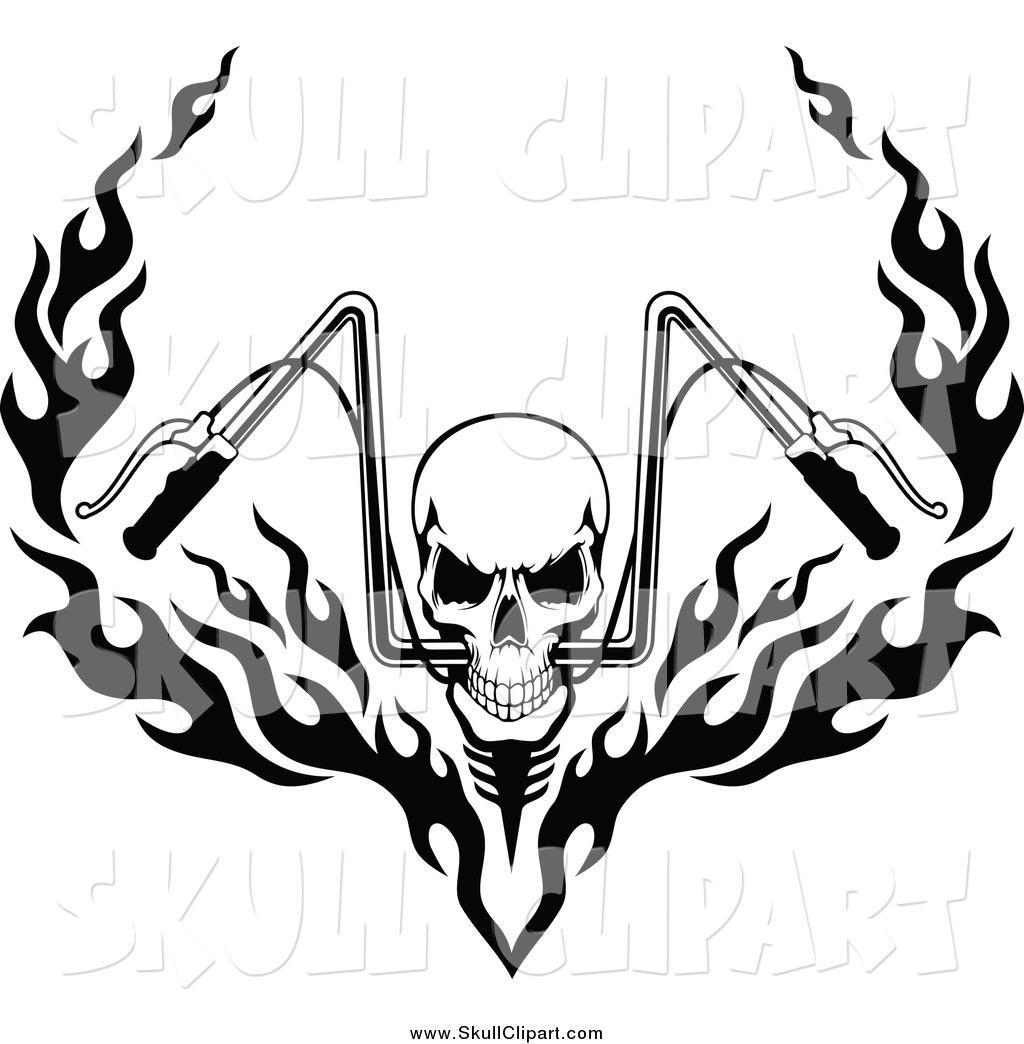 1024x1044 Flaming Skull Clipart