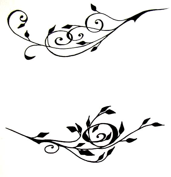 565x584 Graphics For Tribal Vine Clip Art Graphics