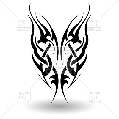 400x400 Hand Drawn Tribal Tattoo Royalty Free Vector Clip Art Image