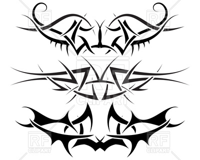 400x320 Ornaments Of Tribal Tattoo Royalty Free Vector Clip Art Image