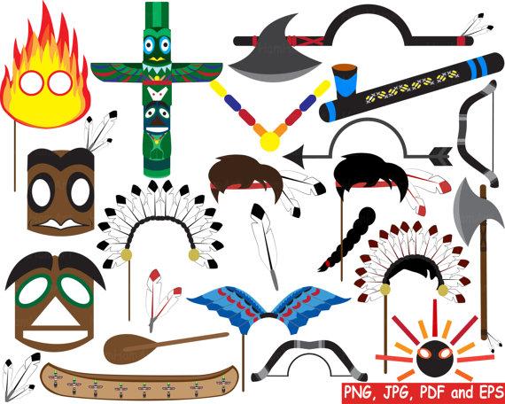 570x456 Props Indian Tribal Digital Clipart Png Jpg Pdf Eps Clip Art