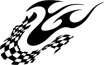 340x212 Racing Flame. Free Vector Clipart Sample For Vehicle Graphics