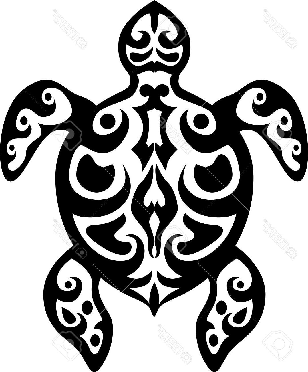 1077x1300 Top Tribal Sea Turtle Silhouette Cdr Free Vector Art, Images