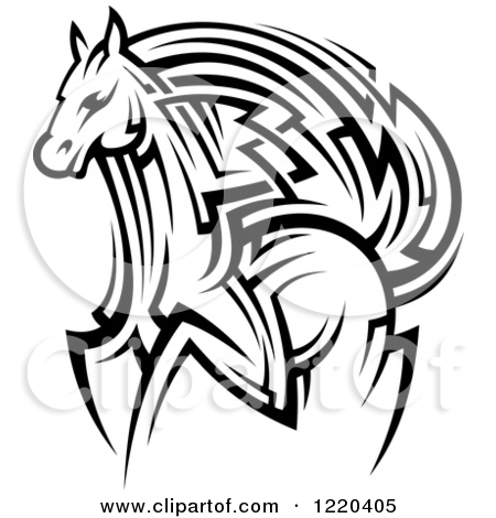 450x470 Tribal Horse Head Clip Art Clipart Panda