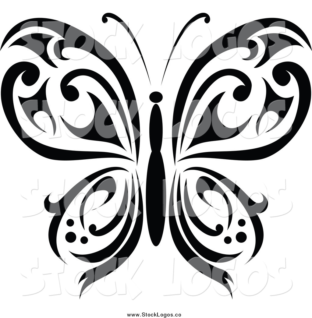 1024x1044 Vector Image Of A Black Tribal Butterfly Logo By Vector Tradition