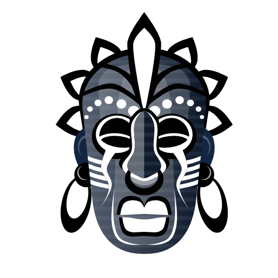 555x555 Clip Art Abstract Tribal Mask 3 Scalable Vector