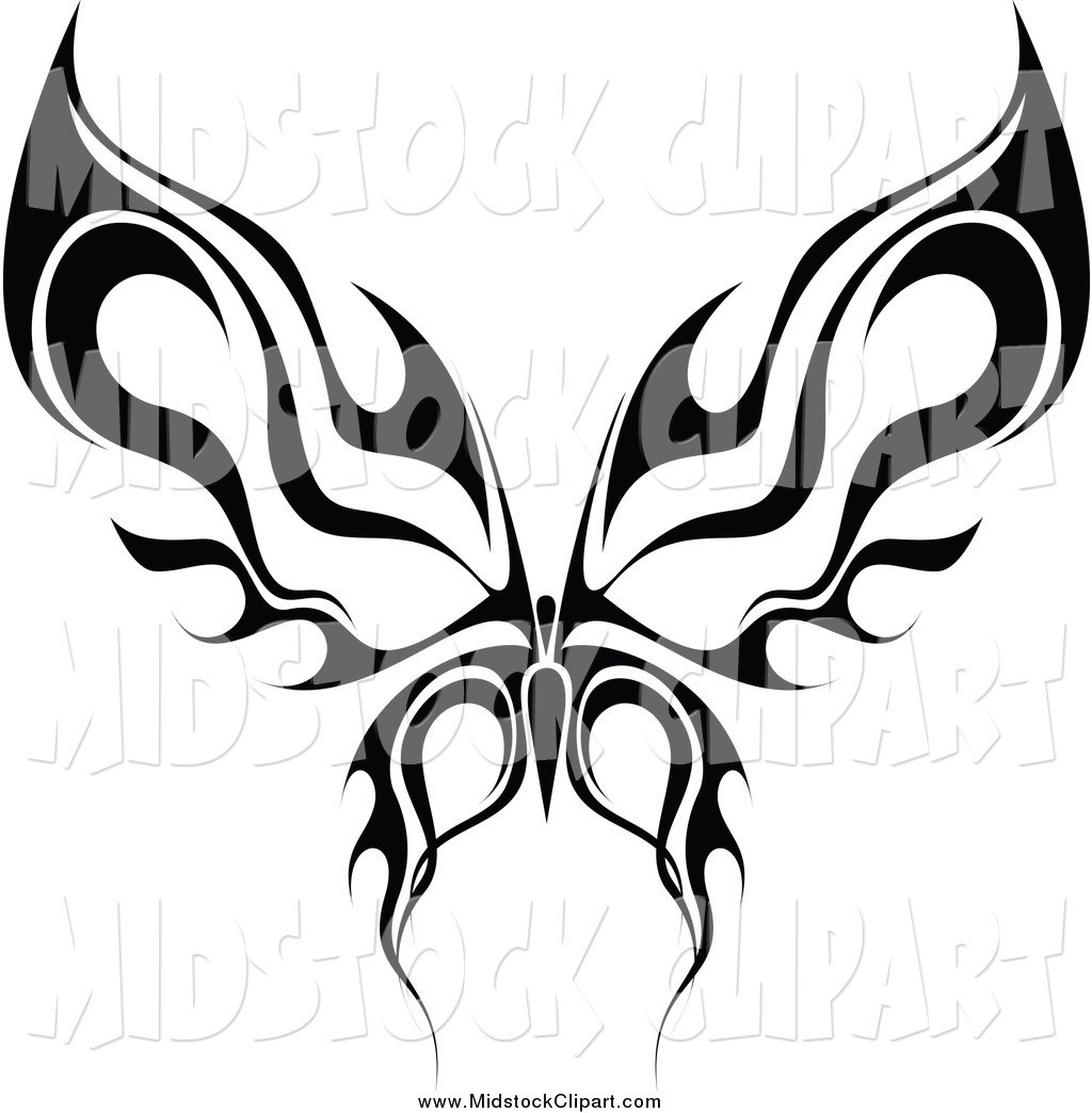 1024x1044 Butterfly Tribal Clipart