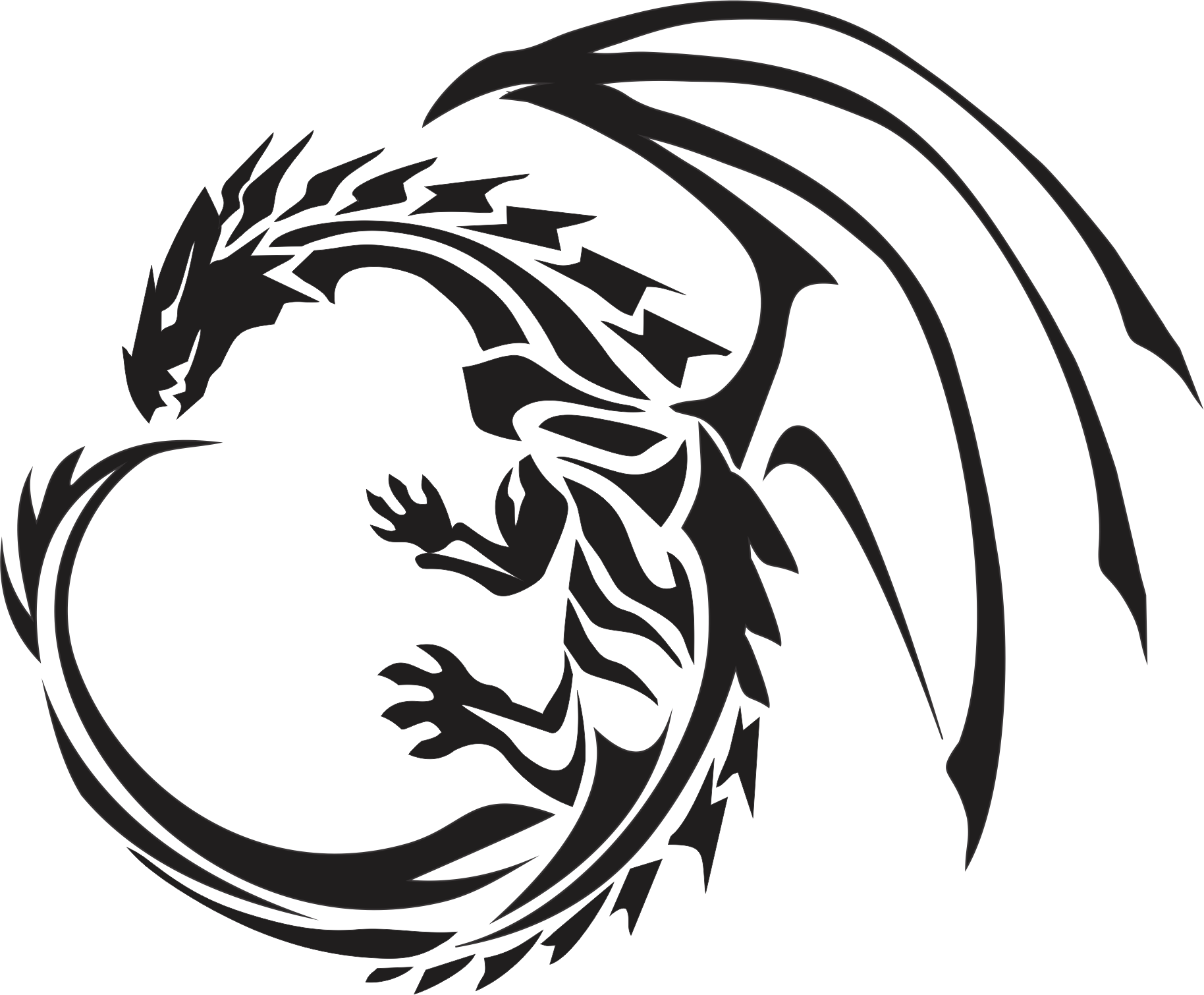 1828x1510 Download Dragon Tattoos Png Image Hq Png Image Freepngimg