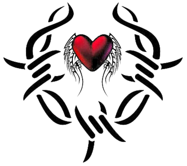 600x533 Heart Tattoos Png Transparent Images Png All