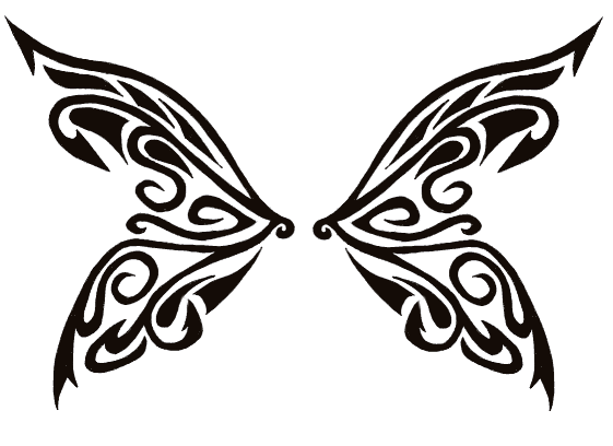 561x408 Tribal Butterfly Wings By Tribal Tattoos