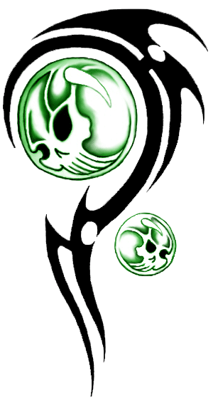 300x562 Tribal Skull Tattoos Png Transparent Images Png All