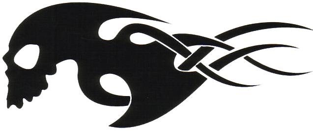 637x266 Tribal Skull Tattoos Png