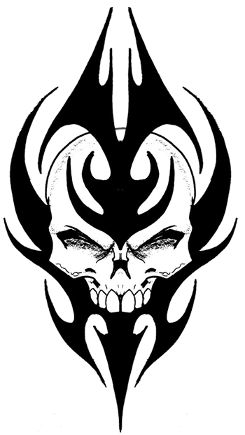 350x621 Tribal Skull Tattoos Png Picture