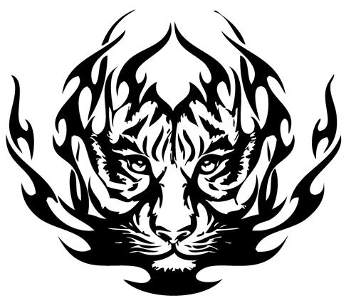 500x426 Tribal Tiger Tattoos 03 1.png Clipart Panda