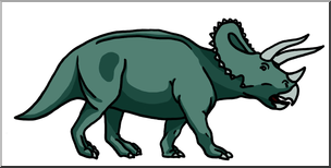 304x154 Clip Art Triceratops Color I Abcteach