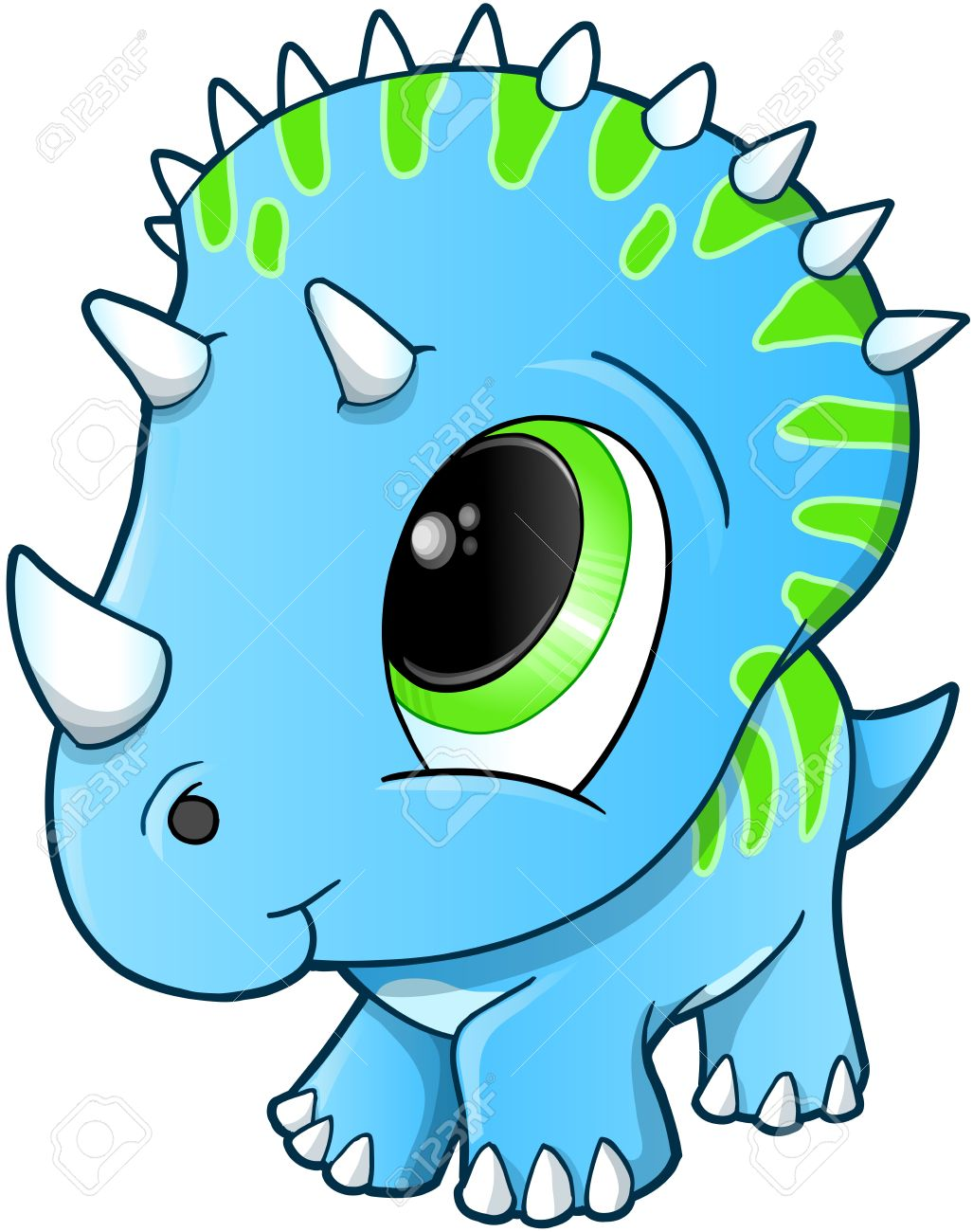 1027x1300 Cute Baby Triceratops Dinosaur Illustration Royalty Free Cliparts