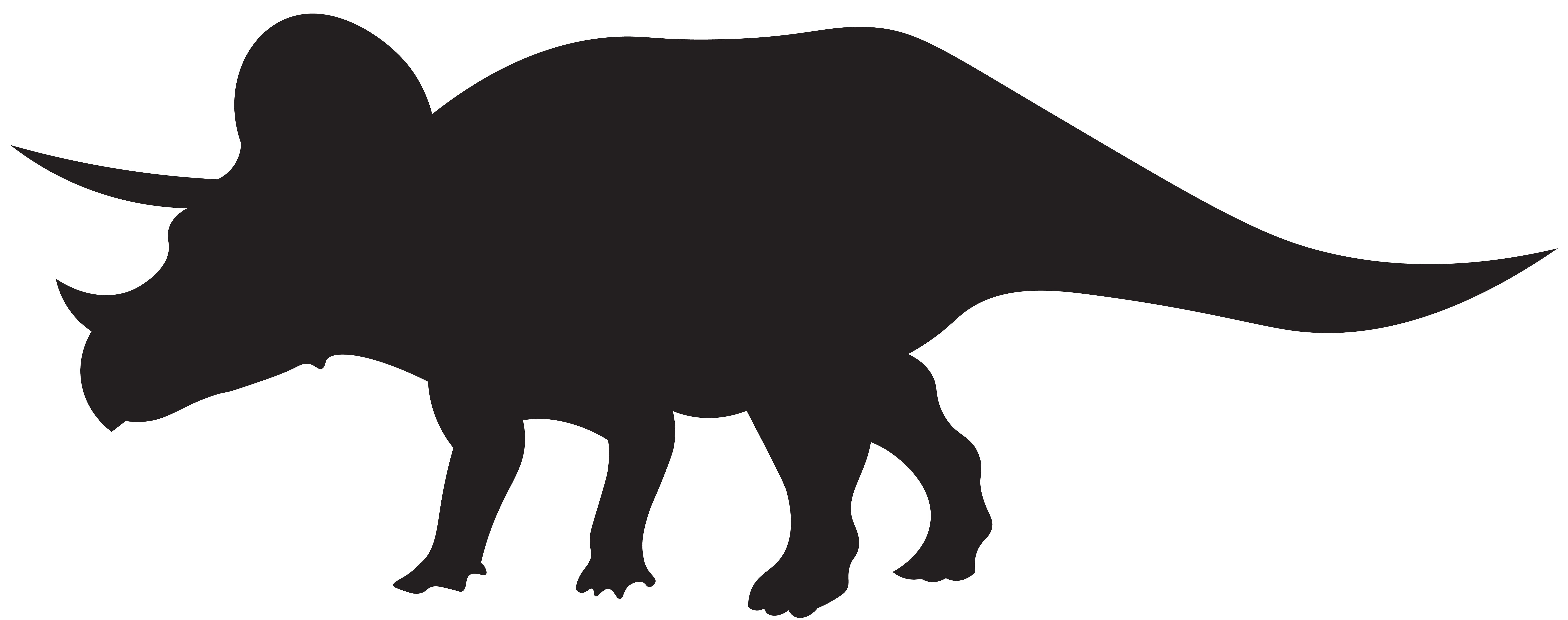 8000x3165 Dinosaurs Triceratops Silhouette Png Clip Art Imageu200b Gallery