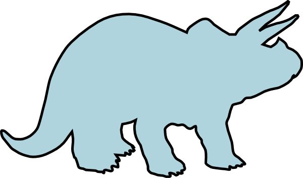 600x352 Light Blue Triceratops Clip Art