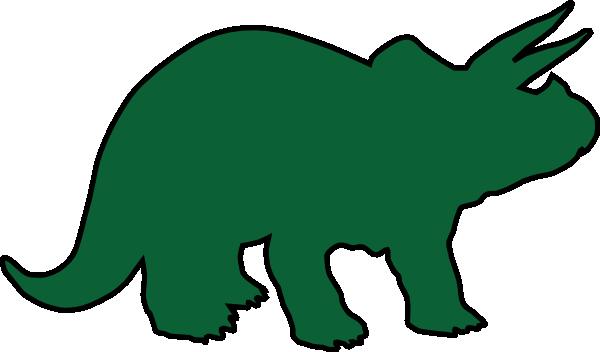 600x352 Triceratops Dinosaur Green Clip Art