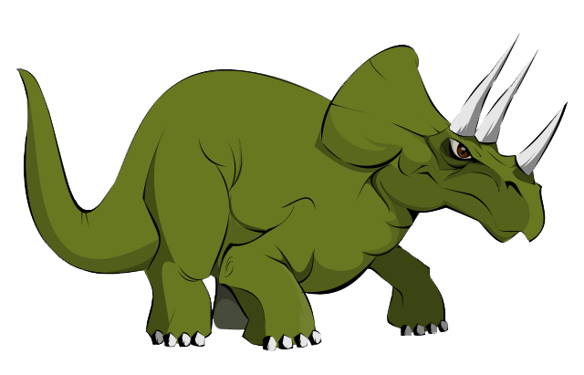 640x411 Triceratops Clipart