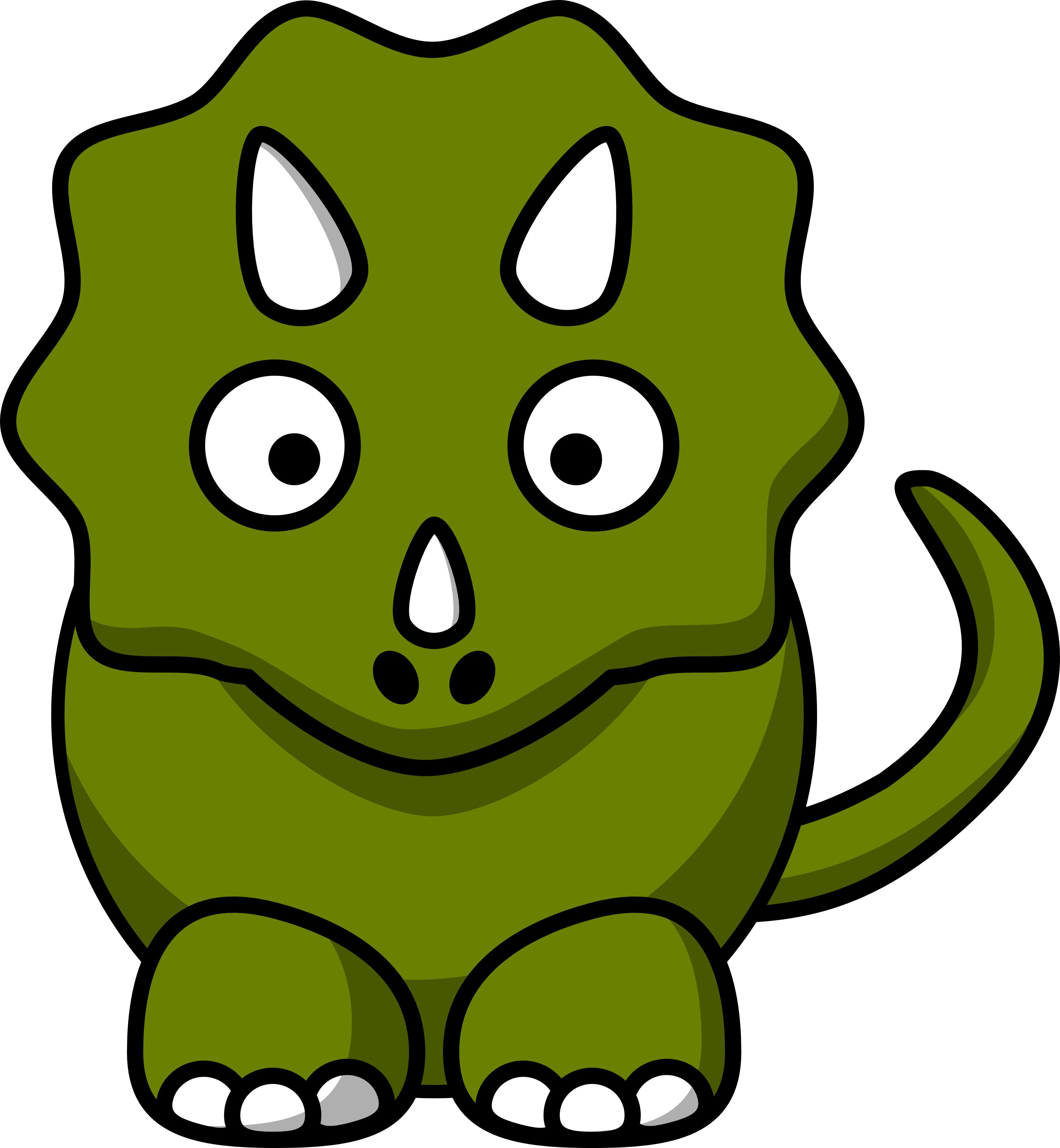 3333x3608 Triceratops Clipart Drawing