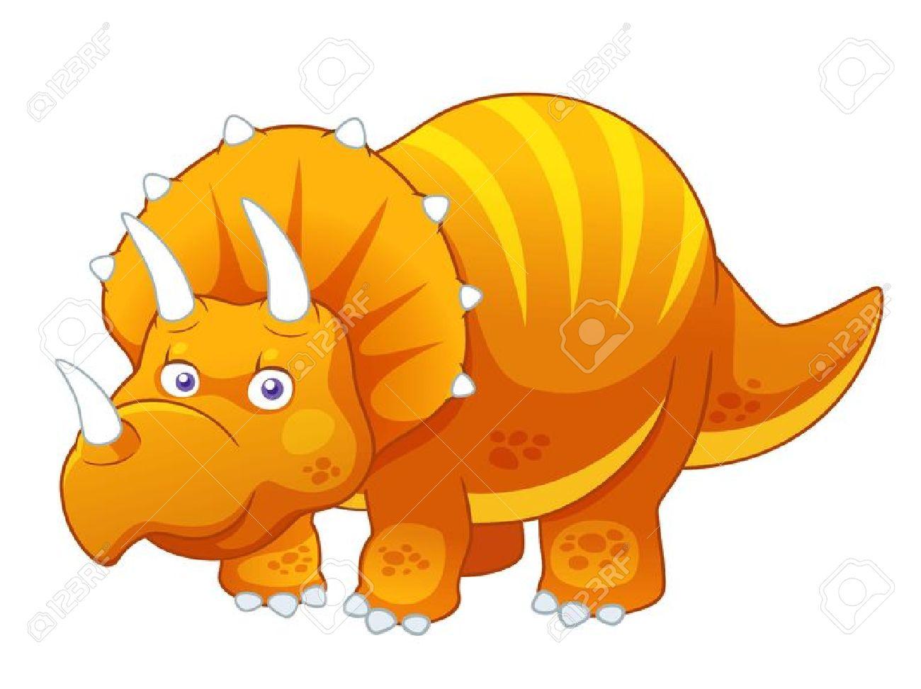 1300x972 Triceratops Clipart Orange
