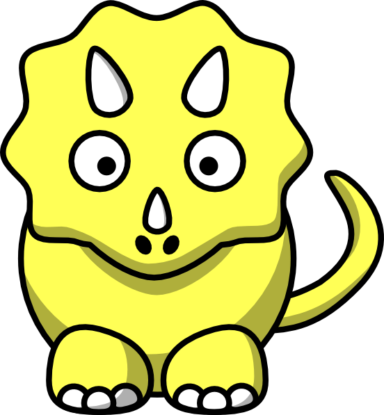 552x597 Yellow Triceratops Clip Art