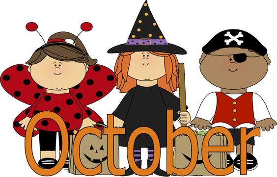 564x361 October Clip Art October Trick Or Treaters Clip Art Image