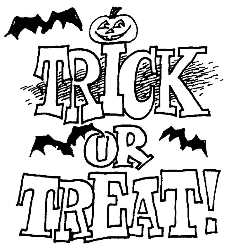 Trick Or Treat Clipart Black And White