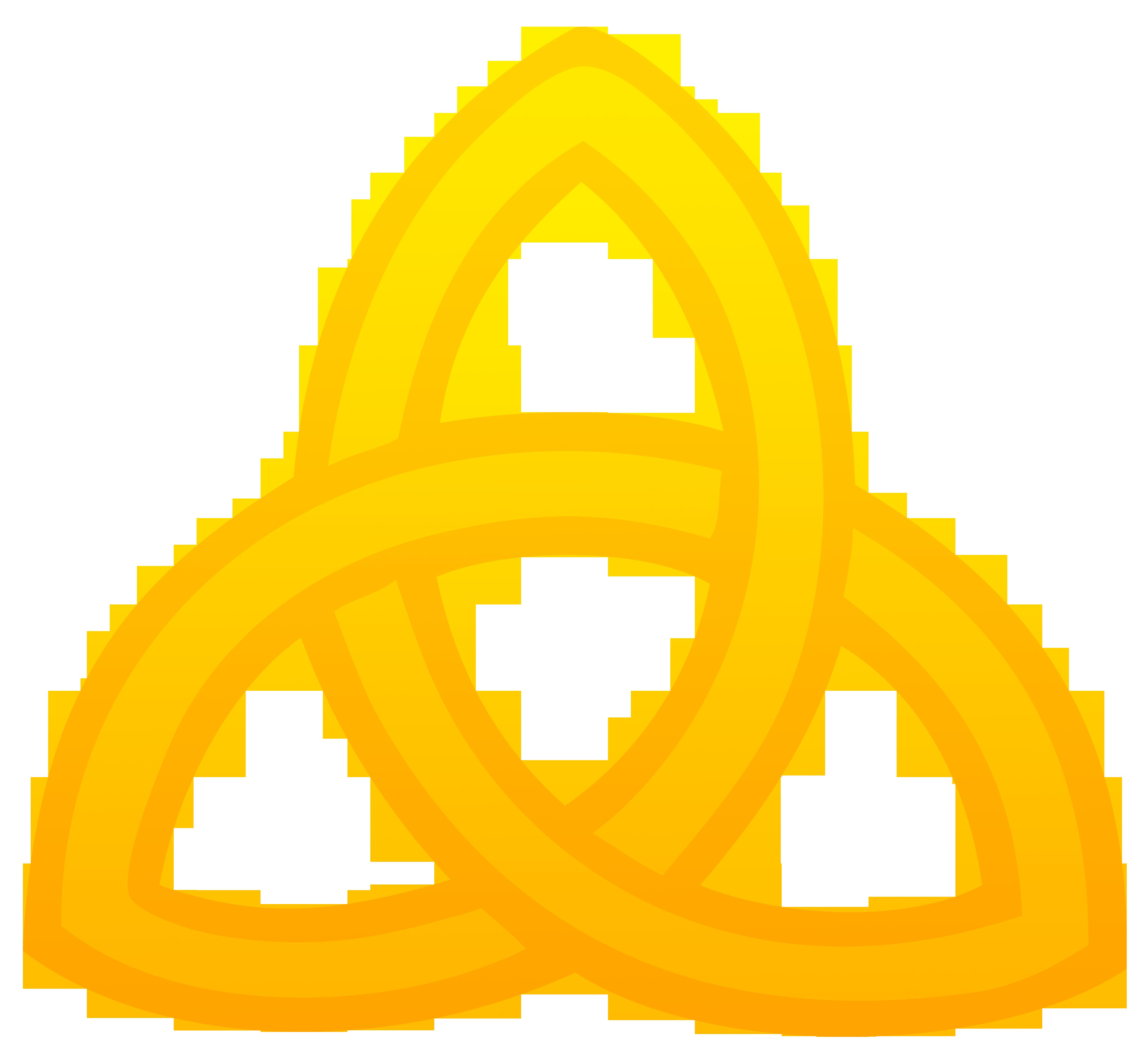 4864x4476 Golden Triquetra Symbol
