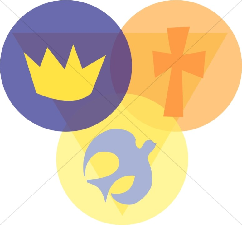 776x723 Trinity With Crown, Cross, And Dove Trinity Clipart
