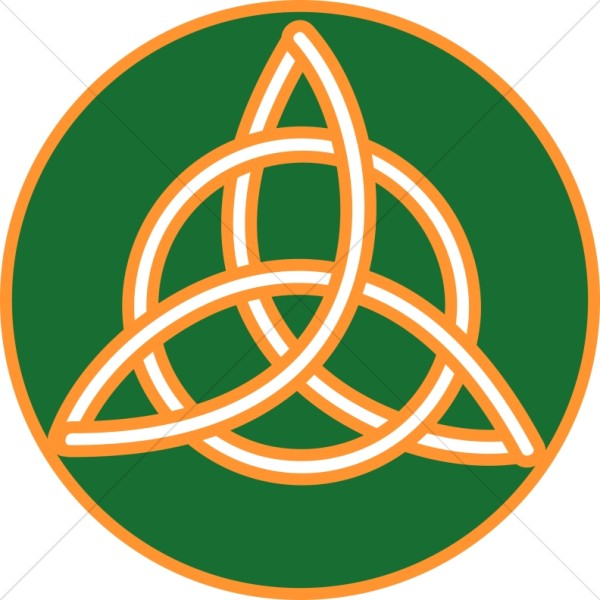 600x600 Gold Trimmed Celtic Trinity Knot Trinity Clipart