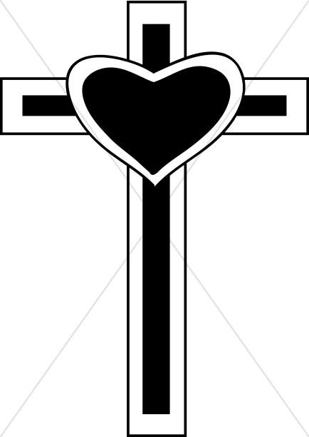 434x612 Heart On Cross Clipart