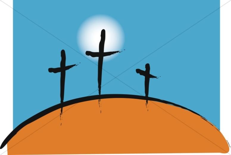 776x522 Black Trinity Cross Graphic Clipart