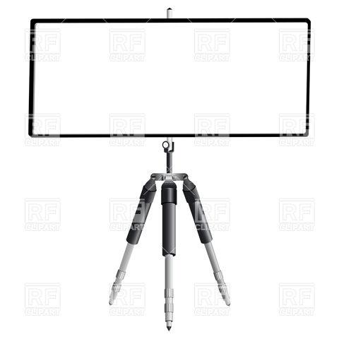 480x480 Empty Screen On Tripod Royalty Free Vector Clip Art Image