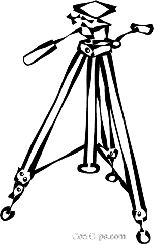 303x480 Tripod Royalty Free Vector Clip Art Illustration Vc021702