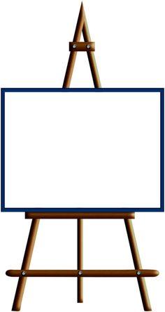 236x444 Blank Paint Easel Clip Art Image