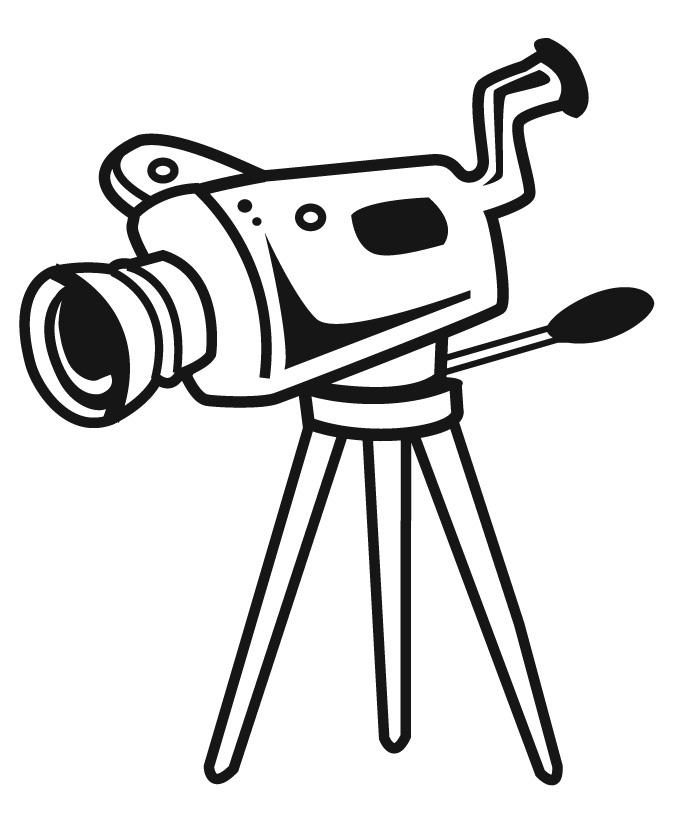 675x825 Camera On Tripod Clipart