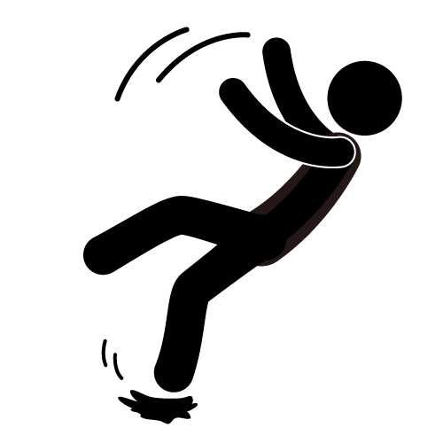 500x500 Person Falling Clipart