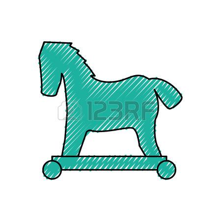 450x450 Black Trojan Horse Computer Virus Icon Vector Royalty Free