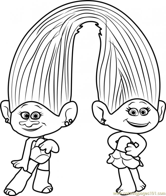 It's just a graphic of Massif Branch Trolls Coloring Pages