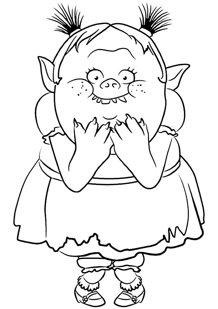 Trolls Coloring Pages Free Download Best Trolls Coloring Pages On